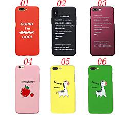 Недорогие Кейсы для iPhone 7 Plus-Кейс для Назначение Apple iPhone X iPhone 8 Защита от удара Матовое Кейс на заднюю панель Слова / выражения Фрукты Животное Твердый ПК для