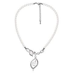 お買い得  ネックレス-女性用 ペンダントネックレス  -  真珠, 人造真珠 ヴィンテージ, ファッション シルバー 40+5 cm ネックレス ジュエリー 1個 用途 式典, お出かけ