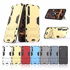 お買い得  Huawei Pシリーズケース/ カバー-ケース 用途 Huawei P20 lite / P20 耐衝撃 / スタンド付き バックカバー 鎧 ハード PC のために Huawei P20 lite / Huawei P20 Pro / Huawei P20