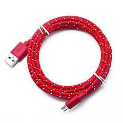 billige -Mikro USB USB-kabeladapter Hurtig kostnad Kabel Til Samsung / Huawei / LG 300cm TPE