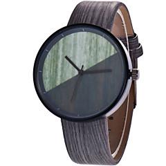 preiswerte Herrenuhren-Herrn / Damen Armbanduhr Chinesisch Armbanduhren für den Alltag PU Band Holz / Modisch Braun / Grau