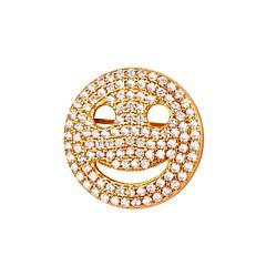 お買い得  ブローチ-ブローチ  -  顔 ファッション ブローチ ゴールド / シルバー 用途 日常