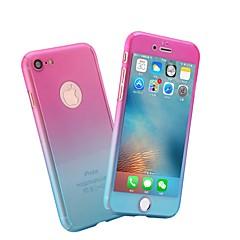 Недорогие Кейсы для iPhone 7 Plus-Кейс для Назначение Apple iPhone X / iPhone 8 Матовое Чехол Мрамор / Градиент цвета Твердый ПК для iPhone X / iPhone 8 Pluss / iPhone 8