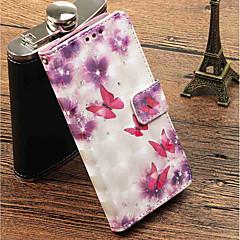 Недорогие Чехлы и кейсы для Xiaomi-Кейс для Назначение Xiaomi Redmi Примечание 5A / Mi 5X Кошелек / Бумажник для карт / со стендом Чехол Бабочка Твердый Кожа PU для Redmi Note 5A / Xiaomi Redmi Note 4X / Redmi 5A