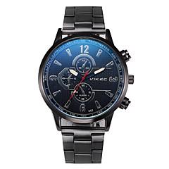 preiswerte Herrenuhren-Herrn Armbanduhr Chinesisch Chronograph / Armbanduhren für den Alltag / Cool Edelstahl Band Armreif / Minimalistisch Schwarz