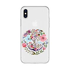 Недорогие Кейсы для iPhone 5-Кейс для Назначение Apple iPhone X / iPhone 8 Plus С узором Кейс на заднюю панель Цветы Мягкий ТПУ для iPhone X / iPhone 8 Pluss / iPhone 8