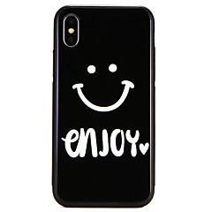 Недорогие Кейсы для iPhone 7-Кейс для Назначение Apple iPhone X / iPhone 8 С узором Кейс на заднюю панель Слова / выражения / Мультипликация Твердый Закаленное стекло для iPhone X / iPhone 8 Pluss / iPhone 8
