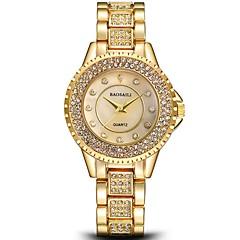 お買い得  レディース腕時計-女性用 リストウォッチ クォーツ シルバー / ゴールド クロノグラフ付き 模造ダイヤモンド 大きめ文字盤 ハンズ レディース ぜいたく バングル - ゴールド シルバー 1年間 電池寿命