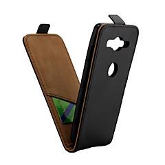 Недорогие Чехлы и кейсы для Sony-Кейс для Назначение Sony Xperia XZ2 Compact Бумажник для карт / Флип Чехол Однотонный Твердый Кожа PU для Xperia XZ2 Compact