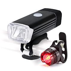 abordables Luces para bicicleta-Luz Frontal para Bicicleta / Luz Trasera para Bicicleta / Juego de luces recargables para bicicleta LED Ciclismo Impermeable, Portátil, Ligero Li-ion 500 lm Blanco Ciclismo