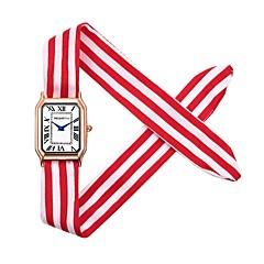 preiswerte Damenuhren-REBIRTH Damen Armbanduhr Chinesisch Chronograph / Niedlich / Kreativ Stoff Band Armreif / Elegant Schwarz / Weiß / Rot
