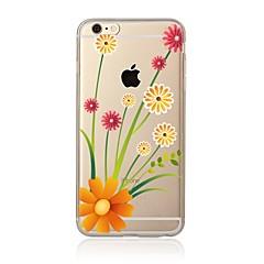 Недорогие Кейсы для iPhone 4s / 4-Кейс для Назначение Apple iPhone X / iPhone 8 Прозрачный / С узором Кейс на заднюю панель Цветы Мягкий ТПУ для iPhone X / iPhone 8 Pluss / iPhone 8