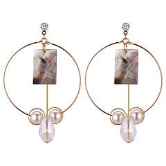 preiswerte Ohrringe-Damen Lang Tropfen-Ohrringe - Künstliche Perle Tropfen Geometrisch, Europäisch, Modisch Gold Für Normal / Alltag