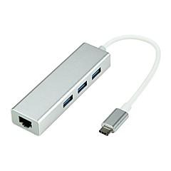 お買い得  Mac 用ケーブル-タイプC USBケーブルアダプタ 1 - 3 アダプター 用途 Macbook / MacBook Air / MacBook Pro 10.5 cm アルミ