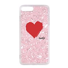 Недорогие Кейсы для iPhone X-Кейс для Назначение Apple iPhone X / iPhone 8 Plus С узором Кейс на заднюю панель С сердцем / Мультипликация Мягкий ТПУ для iPhone X / iPhone 8 Pluss / iPhone 8