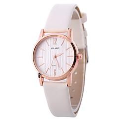 お買い得  レディース腕時計-Xu™ 女性用 リストウォッチ 中国 クリエイティブ / カジュアルウォッチ / 愛らしいです PU バンド ファッション / ミニマリスト ブラック / 白 / ブルー