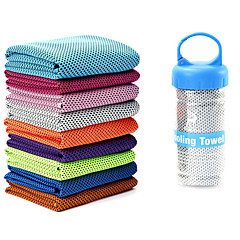 abordables Accesorios para Fitness-Toalla de Refrigeración Reductor del Sudor, Ligero y Conveniente Seda Hielo Para Yoga / Running / Fitness Azul cielo, Rosa, Verde claro Con