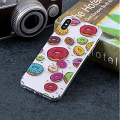 Недорогие Кейсы для iPhone X-Кейс для Назначение Apple iPhone X / iPhone 8 IMD / С узором Кейс на заднюю панель Продукты питания Мягкий ТПУ для iPhone X / iPhone 8 Pluss / iPhone 8