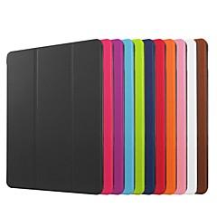 billiga Skal/fodral till iPad Air-fodral Till Apple iPad Mini 4 iPad Mini 3/2/1 IPAD 4/3/2 iPad Air 2 iPad Air med stativ Origami Fodral Ensfärgat Hårt PU läder för iPad