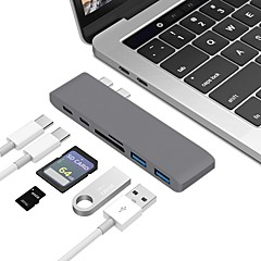 abordables Cables para Mac-Tipo C Todo en 1 Adaptador Macbook / MacBook Air / MacBook Pro para 0 cm Para Aluminio