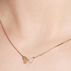 preiswerte Halsketten-Damen Anhängerketten / Ketten - 18K vergoldet, S925 Sterling Silber Schmetterling Zierlich, Einfach Gold 40 cm Modische Halsketten Schmuck Für Geschenk, Alltag