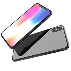 Недорогие Кейсы для iPhone 6 Plus-Кейс для Назначение Apple iPhone X / iPhone 8 Зеркальная поверхность Кейс на заднюю панель Однотонный Мягкий ТПУ для iPhone X / iPhone 8