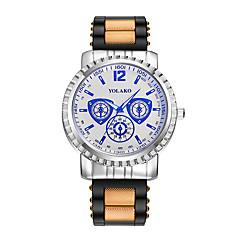 preiswerte Herrenuhren-Herrn Armbanduhr Quartz Armbanduhren für den Alltag Silikon Band Analog Modisch Schwarz / Blau / Rot - Weiß / Rot Weiß / Gold Silber / Blau