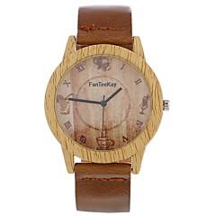 preiswerte Damenuhren-Xu™ Damen Kleideruhr / Armbanduhr Chinesisch Kreativ / Armbanduhren für den Alltag / Großes Ziffernblatt PU Band Retro / Modisch Schwarz / Braun / Schokolade
