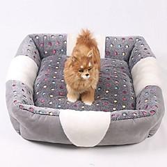 お買い得  犬用品&グルーミング用品-ミニ / 保温 / ソフト 犬の服 ベッド 格子柄 / ファッション グレー 犬用 / ウサギ / 猫用