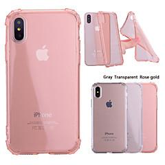 Недорогие Кейсы для iPhone 5-Кейс для Назначение Apple iPhone X / iPhone 8 Plus Защита от удара / Прозрачный Кейс на заднюю панель Однотонный Мягкий ТПУ для iPhone X / iPhone 8 Pluss / iPhone 8