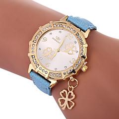 billiga Damklockor-Xu™ Dam Frackur / Armbandsur Kinesiska Kreativ / Vardaglig klocka / Vackert PU Band Löv / Mode Svart / Vit / Blå
