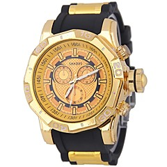 preiswerte Herrenuhren-Herrn Armbanduhr Chinesisch Chronograph / Kreativ / Cool Silikon Band Luxus / Armreif Schwarz / Blau