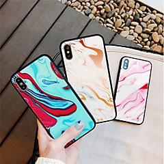 Недорогие Кейсы для iPhone 7 Plus-Кейс для Назначение Apple iPhone X / iPhone 8 С узором Кейс на заднюю панель Мрамор Твердый Закаленное стекло для iPhone X / iPhone 8 Pluss / iPhone 8