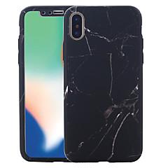 Недорогие Кейсы для iPhone 7 Plus-Кейс для Назначение Apple iPhone X / iPhone 8 С узором Чехол Мрамор Твердый ПК для iPhone X / iPhone 8 Pluss / iPhone 8