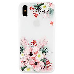 Недорогие Кейсы для iPhone X-Кейс для Назначение Apple iPhone X / iPhone 8 Ультратонкий Кейс на заднюю панель Цветы Мягкий ТПУ для iPhone X / iPhone 8 Pluss / iPhone 8
