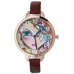 preiswerte Damenuhren-Xu™ Damen Kleideruhr / Armbanduhr Chinesisch Kreativ / Armbanduhren für den Alltag / lieblich PU Band Freizeit / Modisch Schwarz / Blau / Rot / Großes Ziffernblatt / Ein Jahr