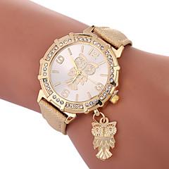 billiga Damklockor-Xu™ Dam Frackur / Armbandsur Kinesiska Kreativ / Vardaglig klocka / Vackert PU Band Mode / Elegant Svart / Vit / Blå