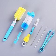abordables Limpieza para la Cocina-Cocina Limpiando suministros Plásticos Cepillo y Trapo de Limpieza Universal / Multifunción 7pcs
