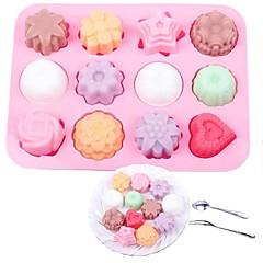 お買い得  ベイキング用品&ガジェット-ベークツール シリコーン 創造的 / DIY クッキー / Cupcake / チョコレート ケーキ型 / クッキーカッター / デザートツール 1個