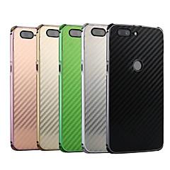 お買い得  その他のケース-ケース 用途 OnePlus OnePlus 5T 耐衝撃 / メッキ仕上げ バックカバー ソリッド ハード カーボンファイバー / メタル のために OnePlus 5T