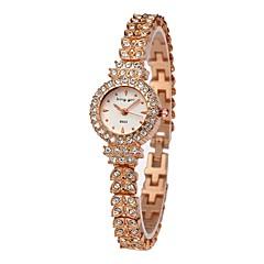 preiswerte Damenuhren-Damen Armbanduhr Quartz Chronograph lieblich Imitation Diamant Edelstahl Band Analog Armreif Elegant Rotgold - Weiß Rotgold Ein Jahr Batterielebensdauer