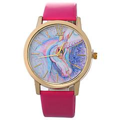 preiswerte Damenuhren-Xu™ Damen Kleideruhr / Armbanduhr Chinesisch Kreativ / Armbanduhren für den Alltag / Großes Ziffernblatt PU Band Zeichentrick / Modisch Schwarz / Weiß / Blau / Ein Jahr