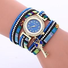 preiswerte Damenuhren-Damen Armband-Uhr Chinesisch Armbanduhren für den Alltag / lieblich / Imitation Diamant PU Band Böhmische / Modisch Schwarz / Blau / Rot