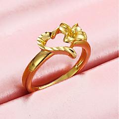 preiswerte Ringe-Damen Öffne den Ring - vergoldet Herz Romantisch, Süß Verstellbar Gold Für Alltag / Verabredung