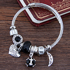 preiswerte Armbänder-Damen Mehrschichtig Bettelarmbänder - MOON, Herz Europäisch, Modisch Armbänder Rot / Blau / Rosa Für Alltag