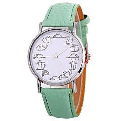 お買い得  レディース腕時計-Xu™ 女性用 リストウォッチ 中国 クリエイティブ / 大きめ文字盤 / 面白い PU バンド ファッション / ミニマリスト ブラック / 白 / ブルー