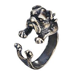 お買い得  指輪-男性用 オープンリング  -  銀メッキ, ゴールドメッキ 犬 動物, ヴィンテージ, ファッション ジュエリー シルバー / 青銅色 用途 Halloween カーニバル