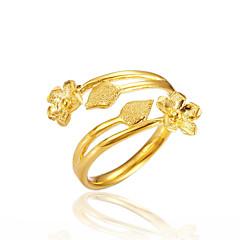 preiswerte Ringe-Damen Öffne den Ring - vergoldet Blume Luxus Verstellbar Gold Für Geschenk / Verabredung