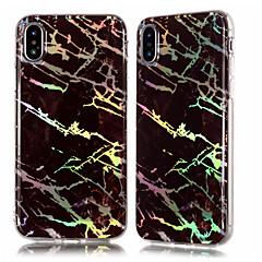 Недорогие Кейсы для iPhone 4s / 4-Кейс для Назначение Apple iPhone X / iPhone 8 Plus Покрытие / IMD / С узором Кейс на заднюю панель Мрамор Мягкий ТПУ для iPhone X / iPhone 8 Pluss / iPhone 8