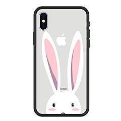 Недорогие Кейсы для iPhone X-Кейс для Назначение Apple iPhone X / iPhone 8 Plus С узором Кейс на заднюю панель Животное / Мультипликация Твердый Акрил для iPhone X / iPhone 8 Pluss / iPhone 8